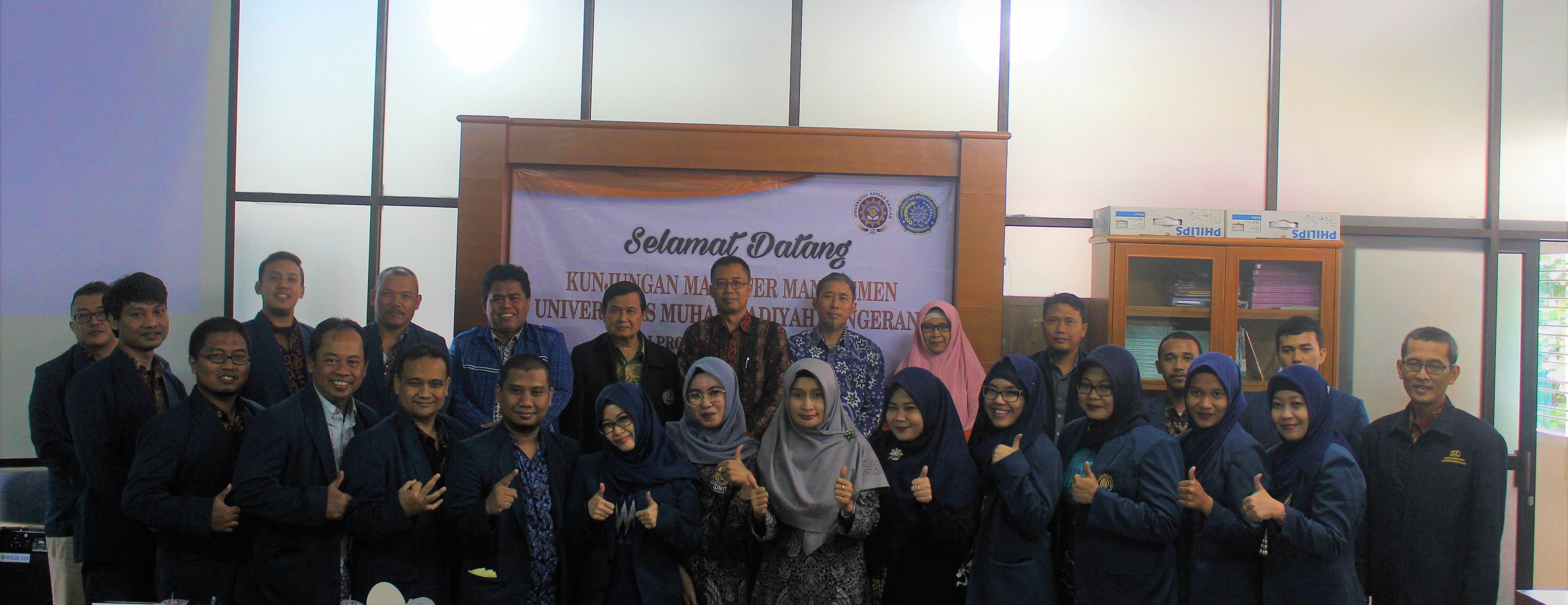 Kegiatan Studi Banding dan Silaturahmi Universitas Muhammadiyah Tangerang