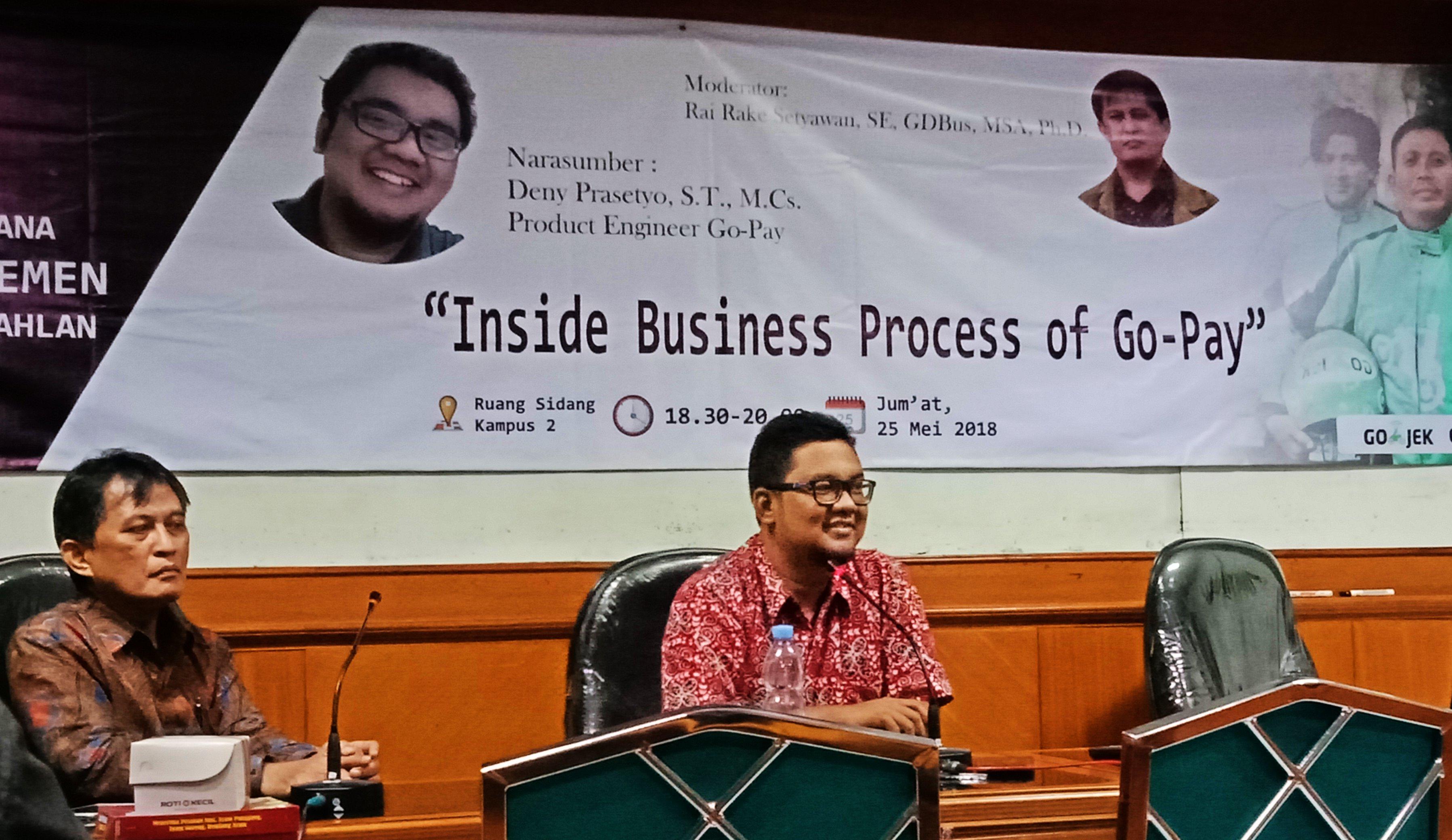"Kuliah Umum ""Inside Business Process of Go-Pay"" Magister Manajemen UAD"