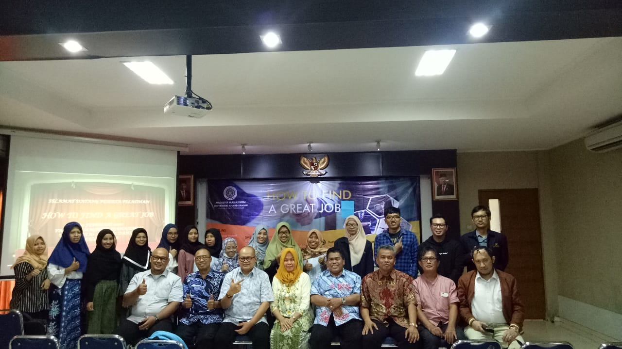 SEMINAR HOW TO FIND A GREAT JOB