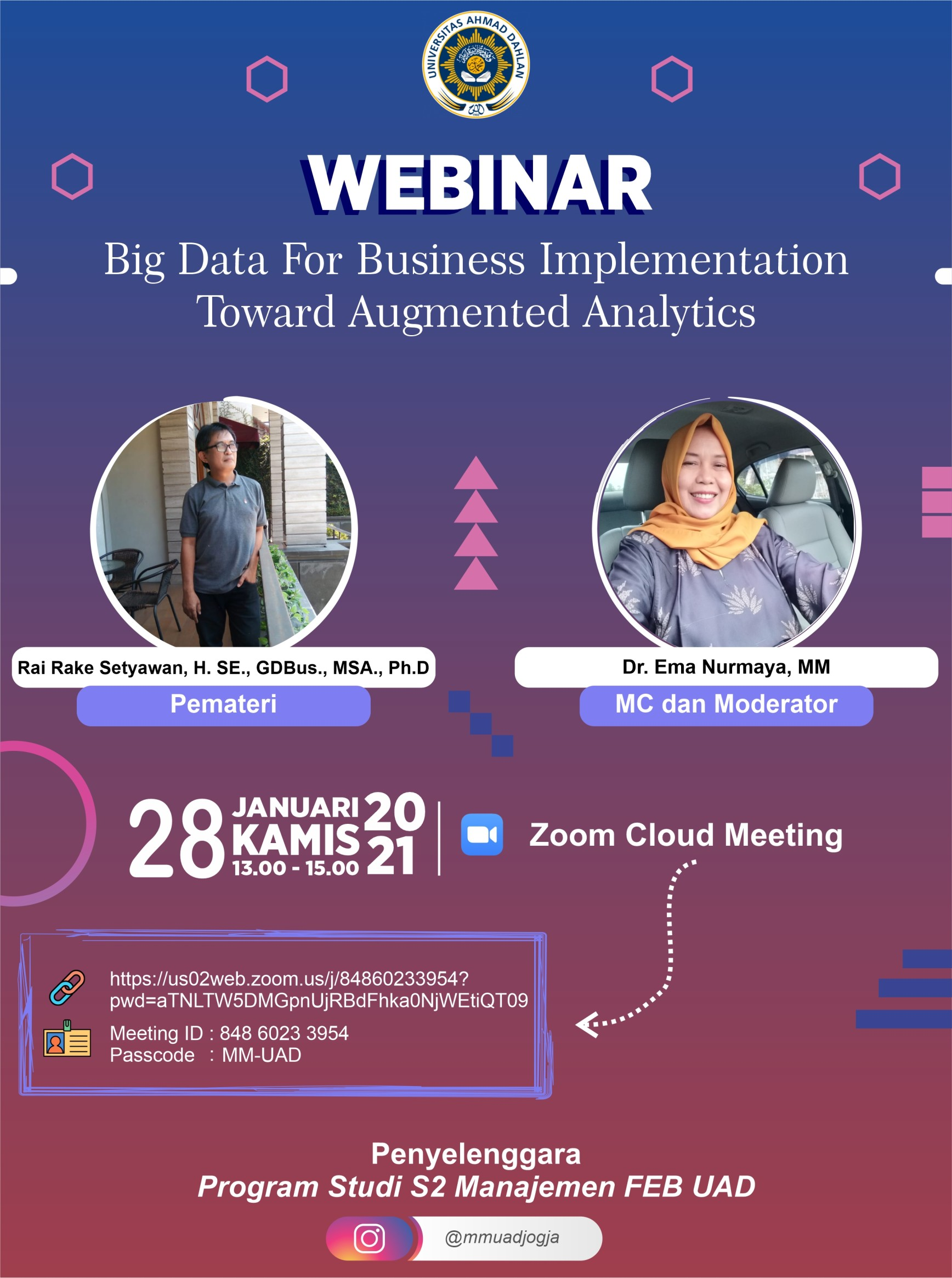 "WEBINAR – ""BIG DATA FOR BUSINESS IMPLEMENTATION TOWARD AUGMENTED ANALYTICS"""